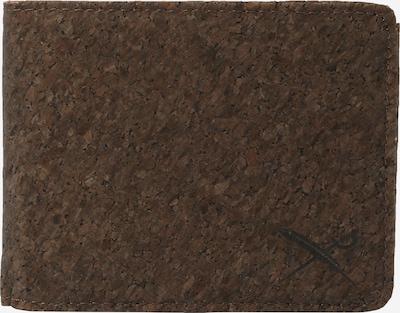 Iriedaily Étui 'Cork Flag' en brun foncé, Vue avec produit