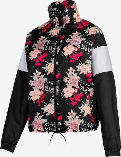 PUMA Polyjacke 'Trend' in himbeer / schwarz / weiß, Produktansicht