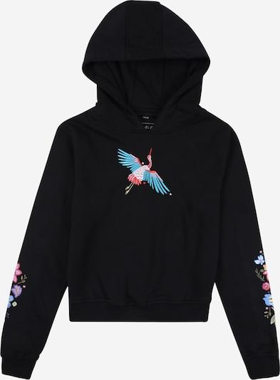 Mister Tee Sweatshirt 'Crane' in türkis / mischfarben / rosa / schwarz, Produktansicht