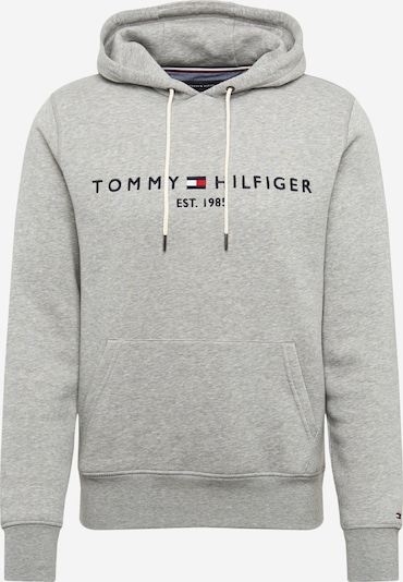 TOMMY HILFIGER Sweatshirt in dunkelblau / graumeliert / rot / weiß, Produktansicht