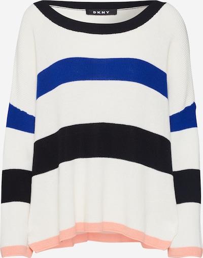 DKNY Pullover in blau / schwarz / weiß, Produktansicht