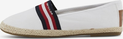 TOM TAILOR Slipper in navy / braun / rot, Produktansicht