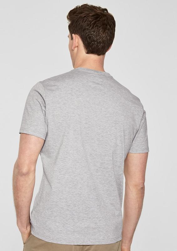 s.Oliver BLACK LABEL Crew Neck-Shirt mit Illustration