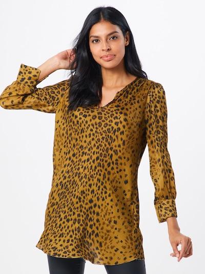 REPLAY Blusenshirt in orange / schwarz: Frontalansicht