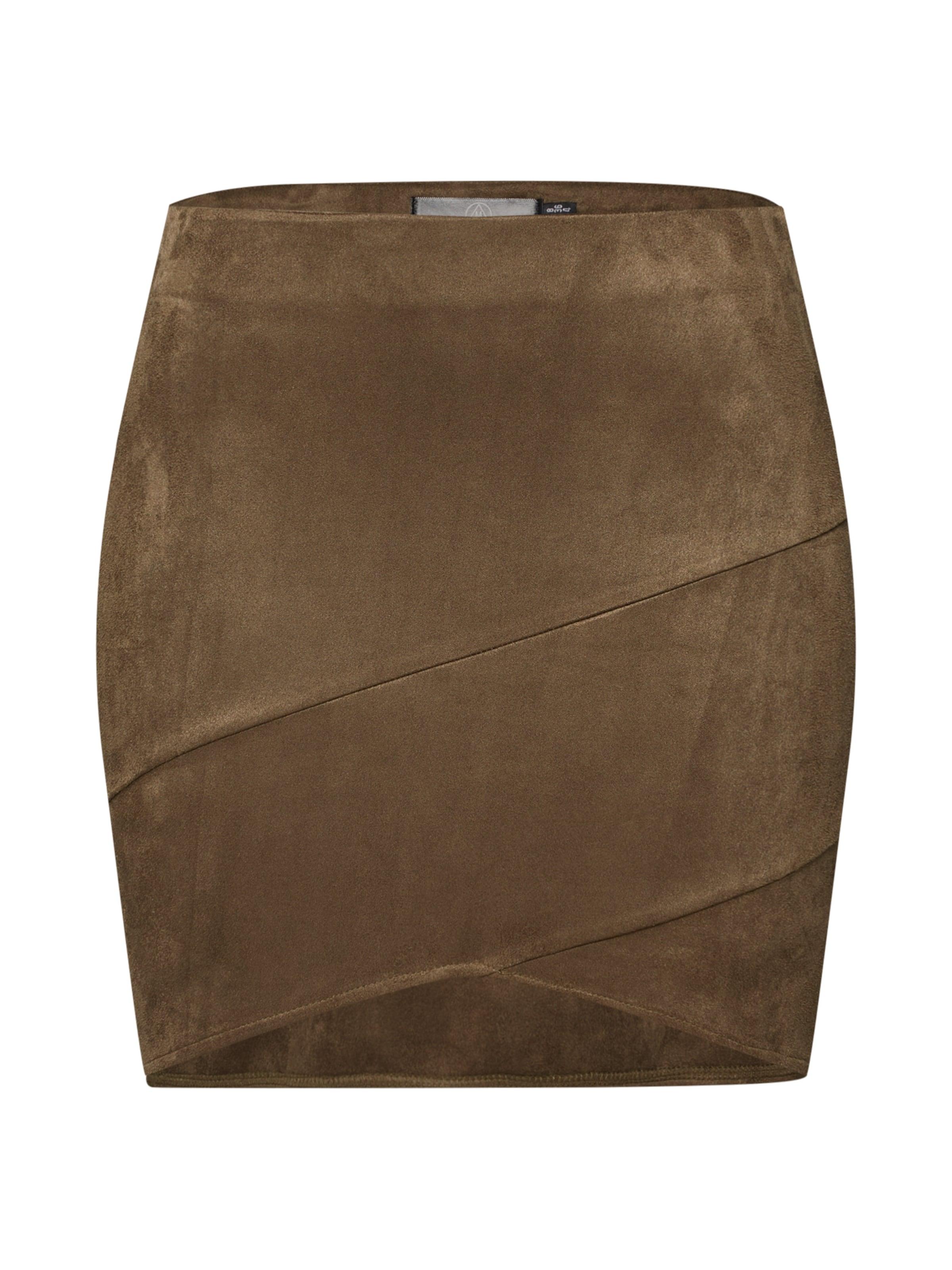 Wrap Mini' Rock Khaki Missguided 'faux Suede In FJc1lTK3