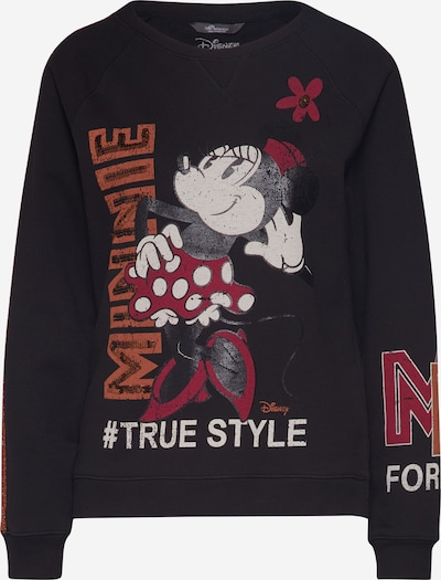 PRINCESS GOES HOLLYWOOD Sweatshirt 'Disney Minnie' in dunkelrot / schwarz / weiß, Produktansicht