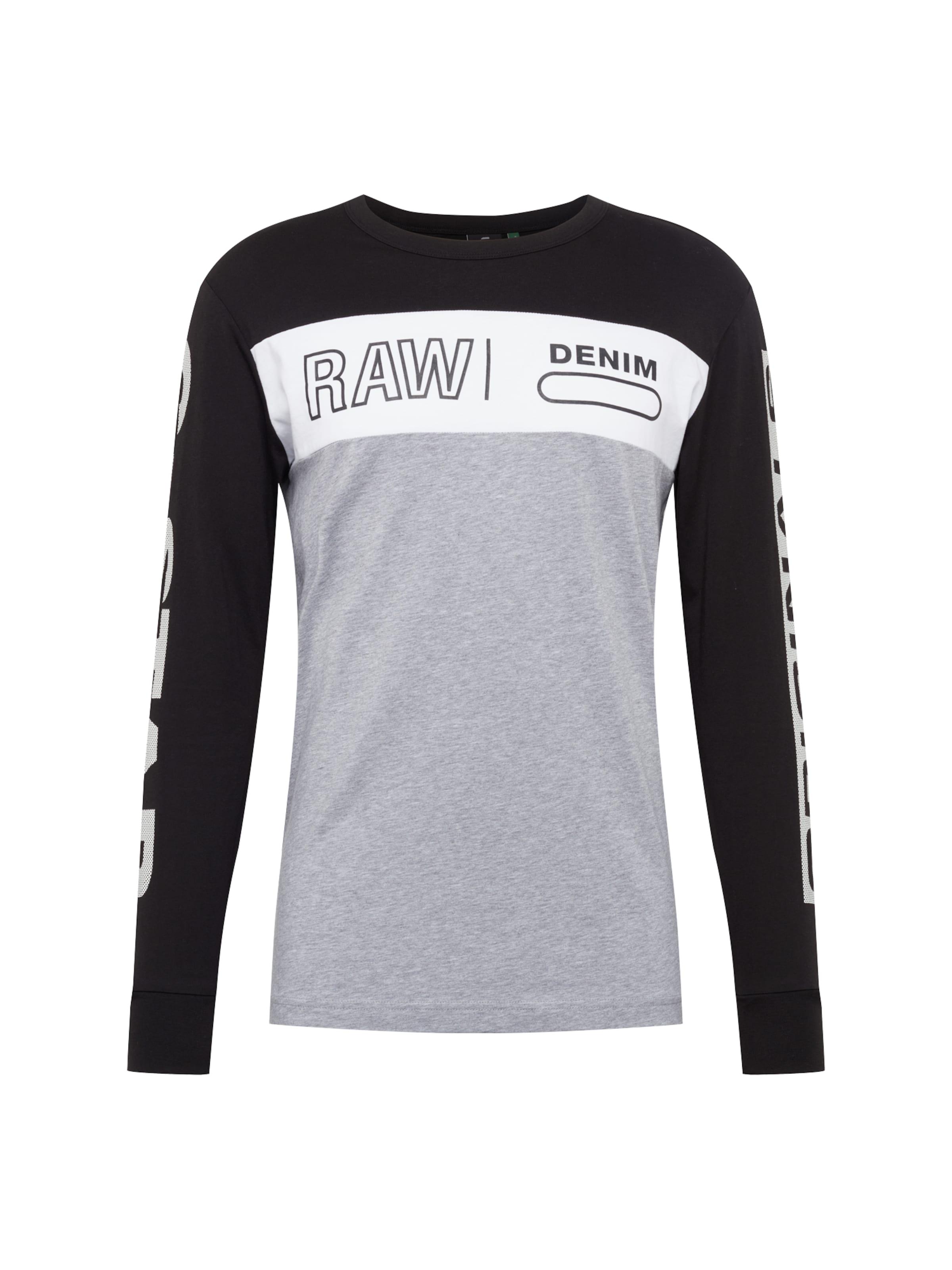 Block Ls' shirt Regular T In GrisNoir star 'swando Graphic R Blanc RawT G MjLqSGUpzV