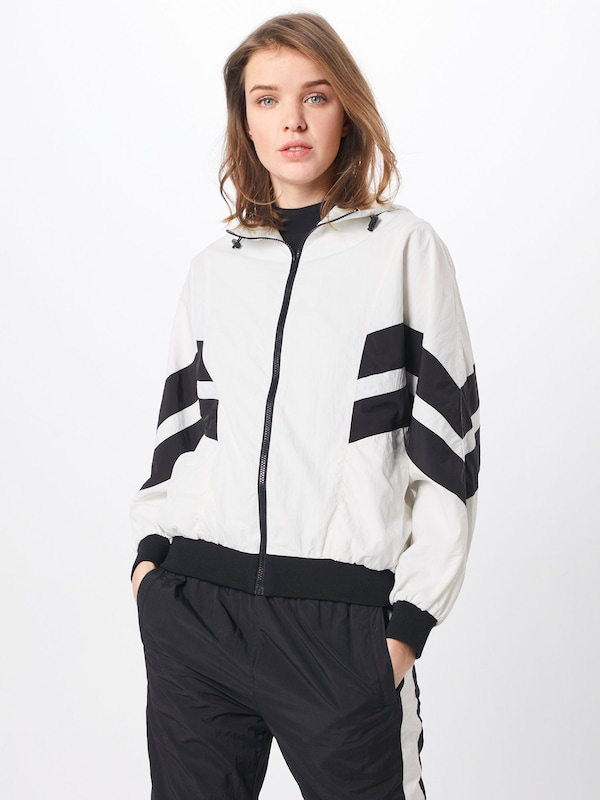 Jacket' 'ladies Blanc Veste En Urban Classics Mi Batwing saison Crinkle lFKcT1J