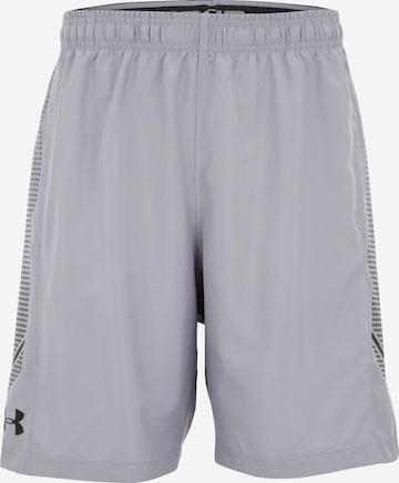 Pantalon de sport 'Woven Graphic' UNDER ARMOUR en gris