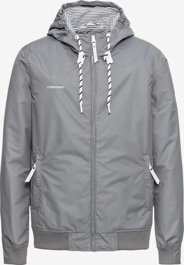 Ragwear Übergangsjacke 'Perci' in grau / weiß: Frontalansicht