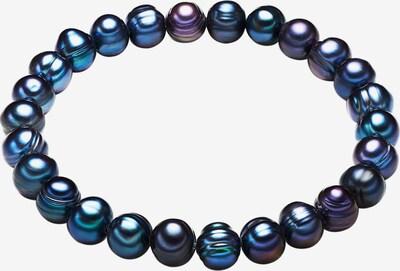 Valero Pearls Armband mit Süßwasser-Zuchtperlen in blau / dunkelblau, Produktansicht