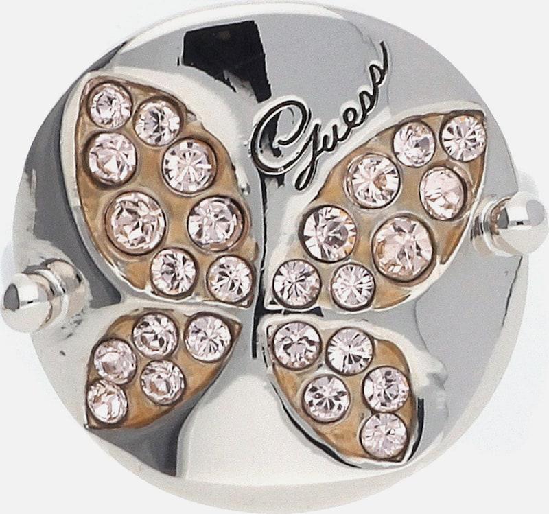 GUESS Damen Fingerring Metall Silber UBR11303