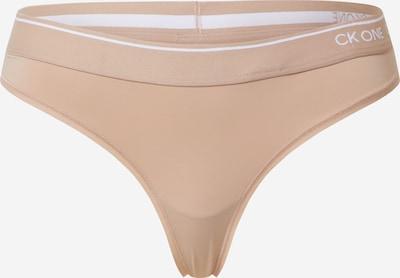 Calvin Klein Underwear String 'THONG' en beige, Vue avec produit