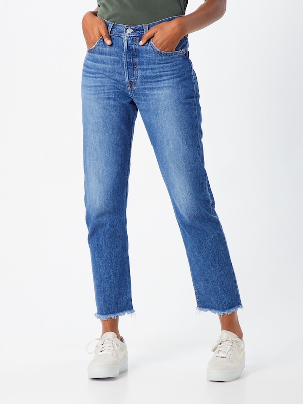 LEVI'S Jeans '501 CROP' in blue denim, Modelansicht
