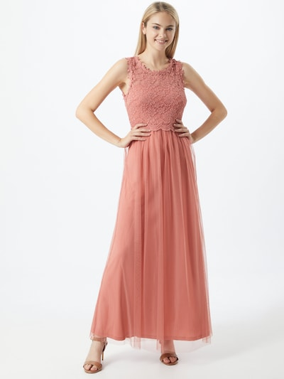 VILA Avondjurk 'Lynnea' in de kleur Zalm roze, Modelweergave