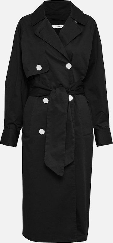 EDITED Trenchcoat in schwarz, Produktansicht