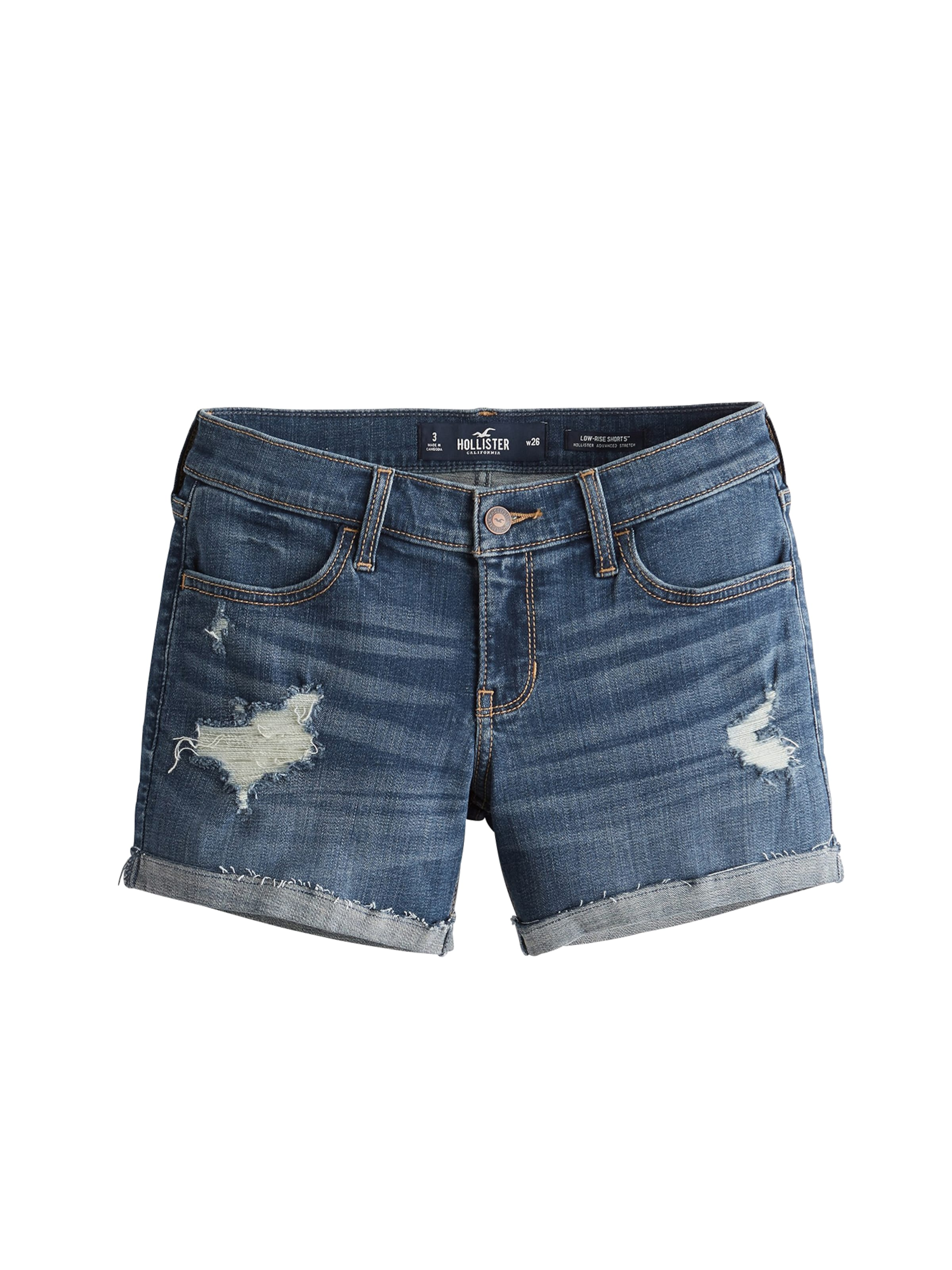 Blue Shorts Hollister Hollister Shorts Denim In In Blue eDW9EH2IYb