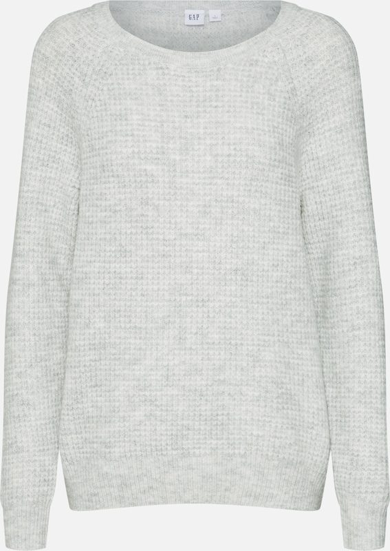 ClairChiné Sweatshirt' Gris Gap Stitch 'waffle En over Pull zSGLqpUVM