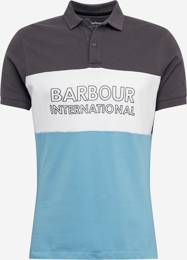Barbour International Polo 'B.intl Bold' in blau / dunkelgrau / weiß, Produktansicht