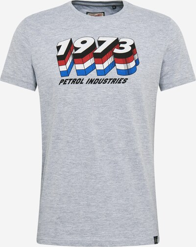 Petrol Industries T-Shirt in grau / blutrot: Frontalansicht
