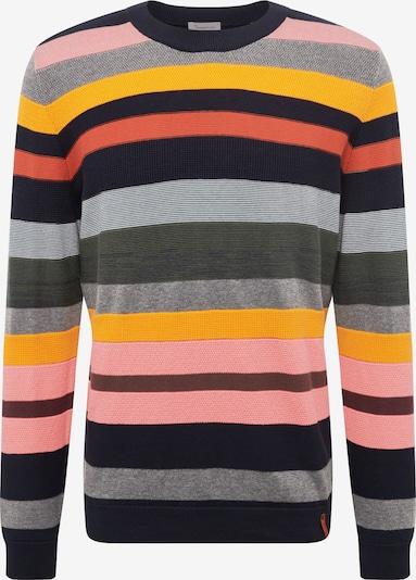 KnowledgeCotton Apparel Pullover in dunkelblau / mischfarben, Produktansicht