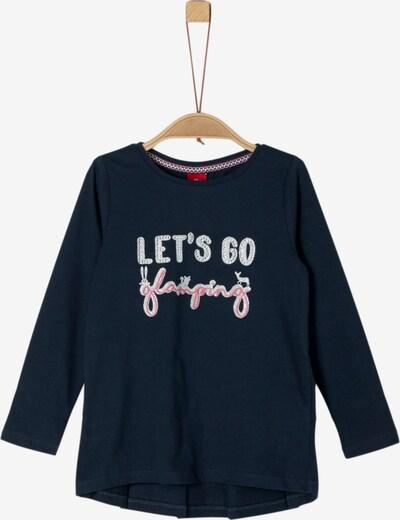 s.Oliver Shirt in nachtblau / pink / silber, Produktansicht