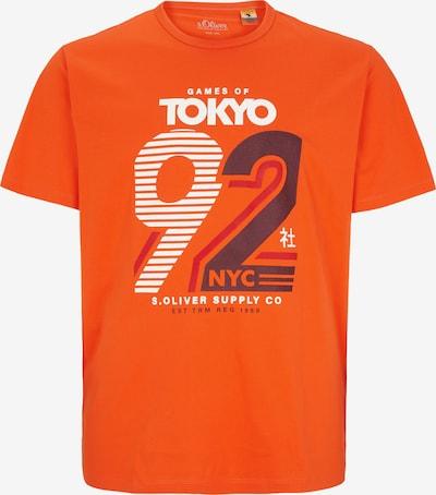 s.Oliver Men Big Sizes T-Shirt in blau / orange / weiß, Produktansicht