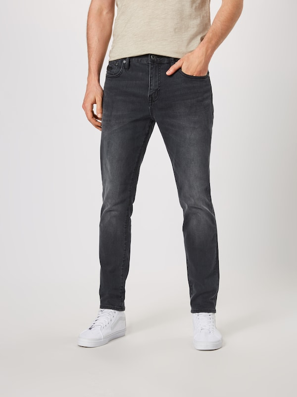 Superdry Jeans 'Tyler Slim' in black denim, Modelansicht