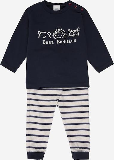 SANETTA Pyjama en bleu marine / blanc, Vue avec produit