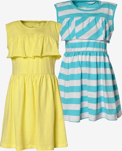 LEMON BERET Jerseykleider, Doppelpack in blau / gelb / weiß, Produktansicht
