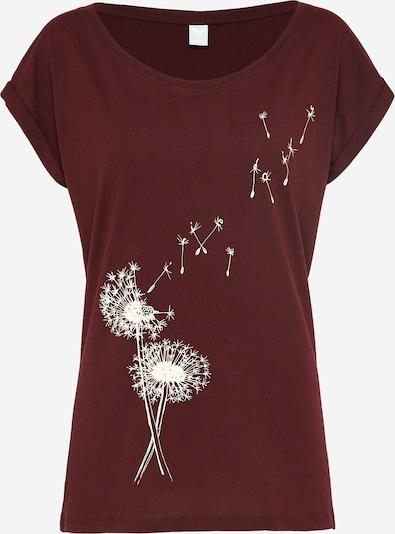 Iriedaily Tričko 'Pusteblume' - vínově červená / bílá, Produkt