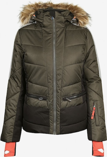 ICEPEAK Jacke 'Electra' in dunkelgrün / schwarz, Produktansicht
