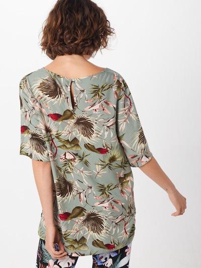 Bluză 'SALLY' ONLY pe verde / culori mixte: Privire spate