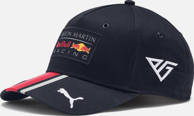 PUMA Baseballcap 'Red Bull Racing Pierre Gasly' in dunkelblau / rot / weiß: Frontalansicht