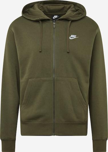 Nike Sportswear Sweatjacke in oliv / weiß, Produktansicht