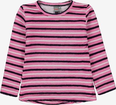 KANZ Langarmshirt in pink / schwarz / weiß: Frontalansicht