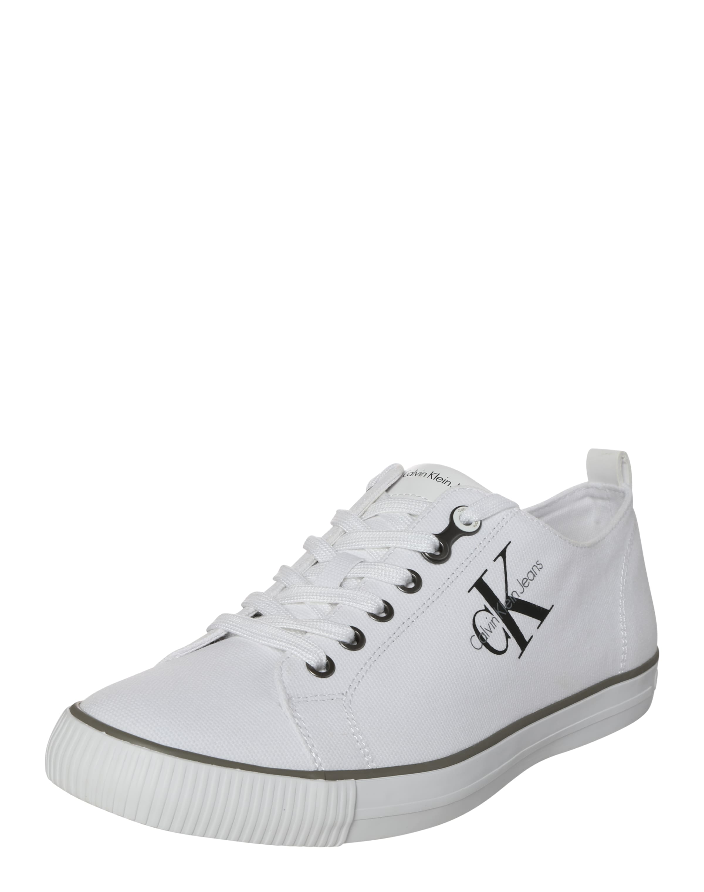 Calvin Mit Logoapplikation Sneaker »arnold Jeans Weiß Klein Canvas« In c5jLq4AS3R