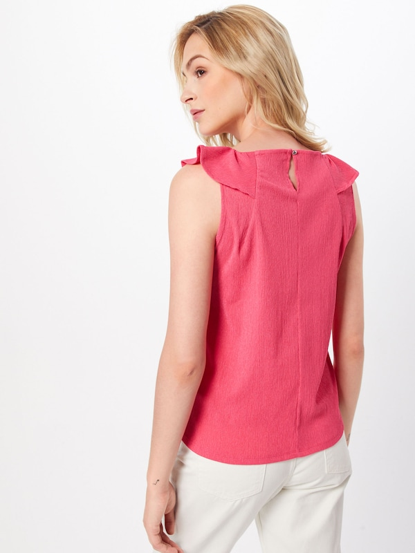 TOM TAILOR DENIM Top in pink: Rückansicht
