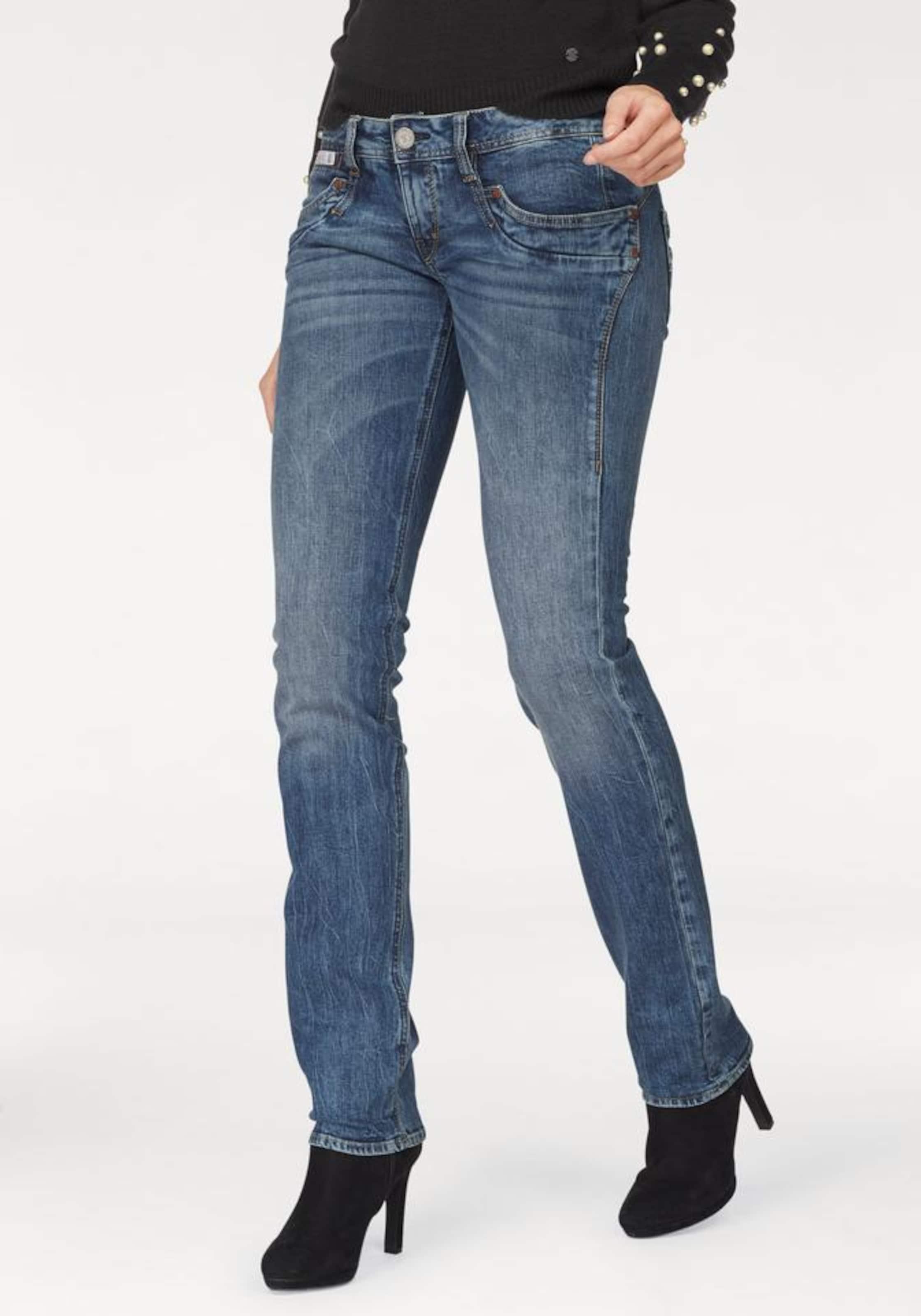 Herrlicher In Blue 'piper' Jeans Denim 80nkwPXO