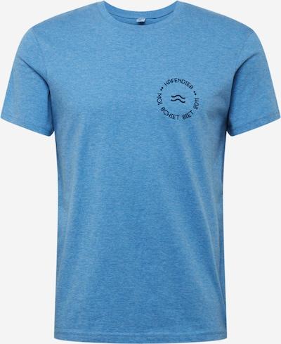 Hafendieb Shirt 'Wave Retro' in de kleur Blauw, Productweergave