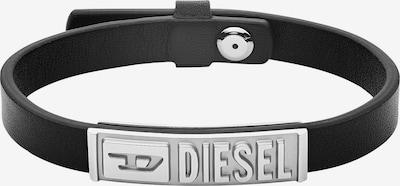 DIESEL Bracelet en noir / argent, Vue avec produit