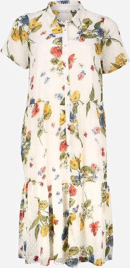ONLY Carmakoma Blousejurk 'CARSPIRIT SS CALF SHIRT DRESS' in de kleur Gemengde kleuren / Wit, Productweergave