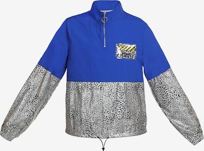 myMo ATHLSR Jacke in blau / schwarz / weiß, Produktansicht