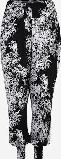 Urban Classics Curvy Pantalón en negro / blanco, Vista del producto
