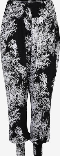 Urban Classics Curvy Chino-püksid 'Ladies Sarong' must / valge, Tootevaade
