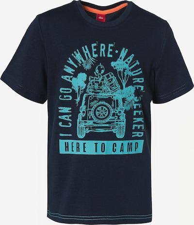 s.Oliver T-Shirt in nachtblau / hellblau, Produktansicht