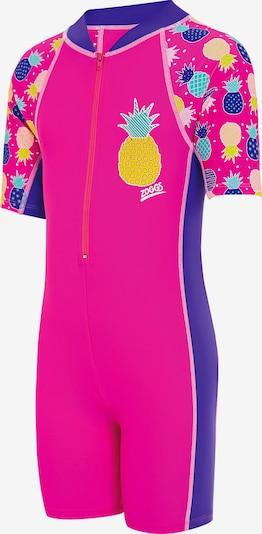 Zoggs Schwimmanzug 'Pine Crush' in dunkellila / neonpink, Produktansicht