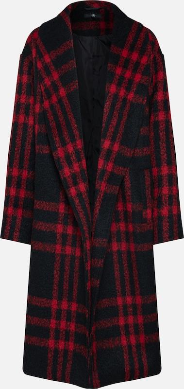 Missguided Coat' RoodZwart Tussenmantel 'check Shawl In Collar lKT1Jc53uF