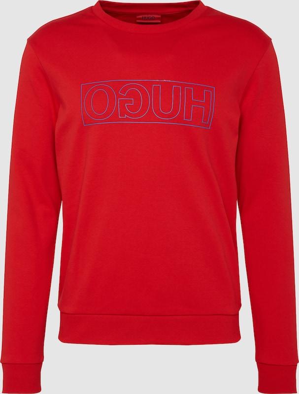 HUGO Sweatshirt  'Dicago-U5 10184534 01' in rot   schwarz  Mode neue Kleidung