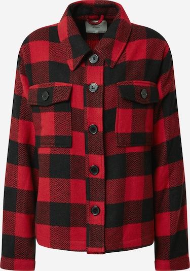 JACQUELINE de YONG Jacke 'UBBA CHECK' in rot / schwarz, Produktansicht